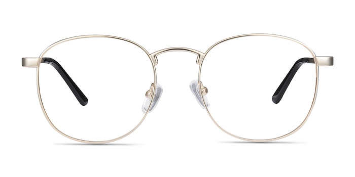 St Michel Golden Metal Eyeglass Frames from EyeBuyDirect