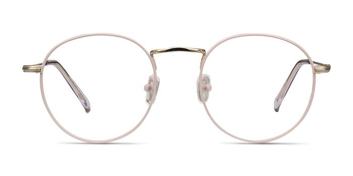 Wistful Matte Pink Metal Eyeglass Frames from EyeBuyDirect