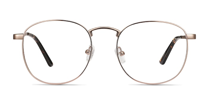 St Michel Rose Gold Metal Eyeglass Frames from EyeBuyDirect