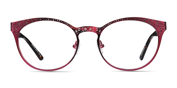 Lattice Red Purple Metal Eyeglass Frames from EyeBuyDirect