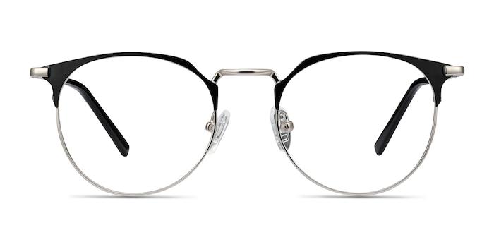 Veronica Black Silver Métal Montures de Lunette de vue d'EyeBuyDirect