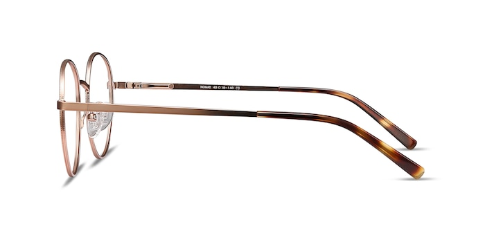 Nomad Rose Gold Metal Eyeglass Frames from EyeBuyDirect