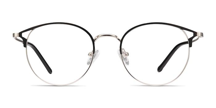 Jive Black & Silver Metal Eyeglass Frames from EyeBuyDirect