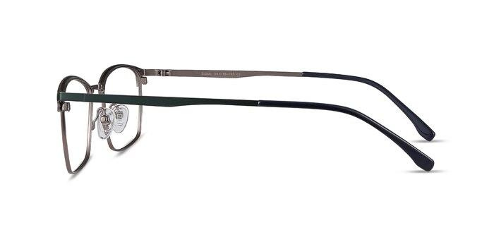 Signal Green Metal Eyeglass Frames from EyeBuyDirect