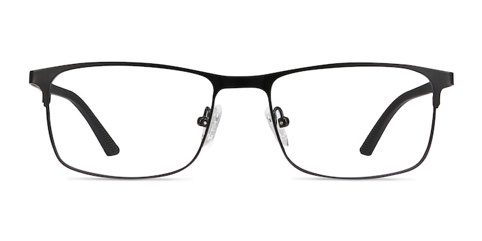 Wit Black Metal Eyeglass Frames from EyeBuyDirect