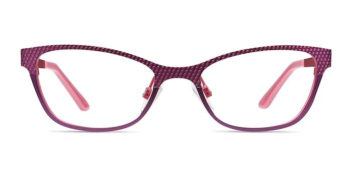 Mardi Gras Pink Metal Eyeglass Frames from EyeBuyDirect