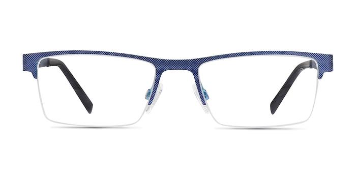 Vine Blue Metal Eyeglass Frames from EyeBuyDirect