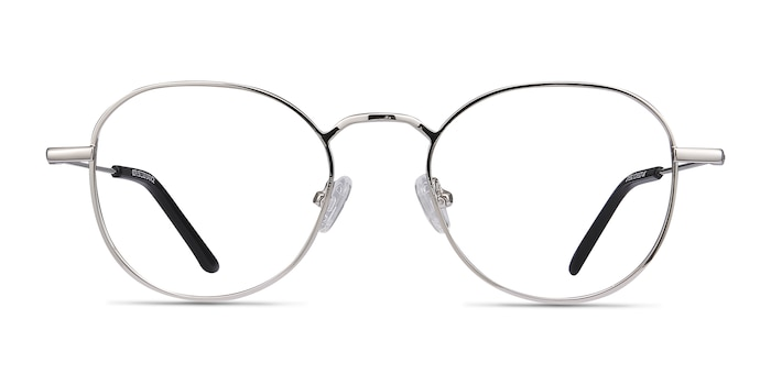 Cori Silver Metal Eyeglass Frames from EyeBuyDirect