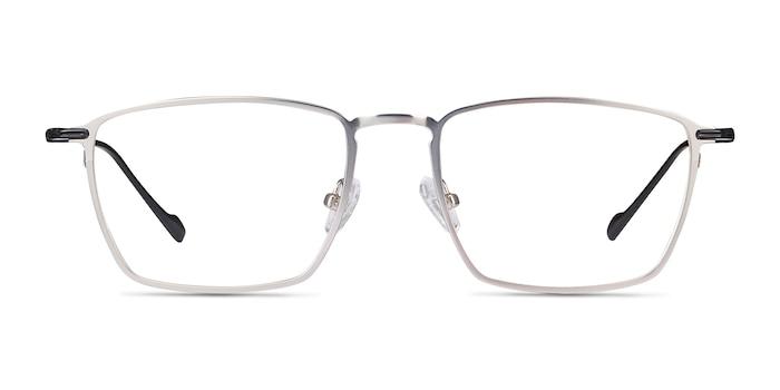 Wind Silver Metal Eyeglass Frames from EyeBuyDirect