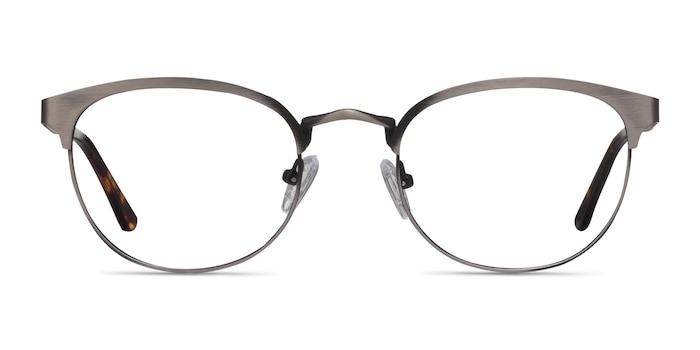The Works Gunmetal Metal Eyeglass Frames from EyeBuyDirect