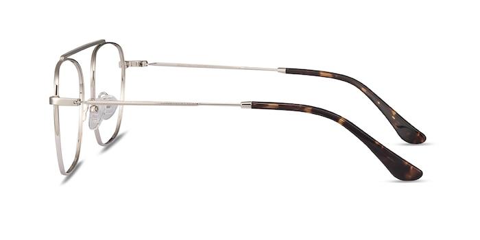 Moxie Silver Metal Eyeglass Frames from EyeBuyDirect