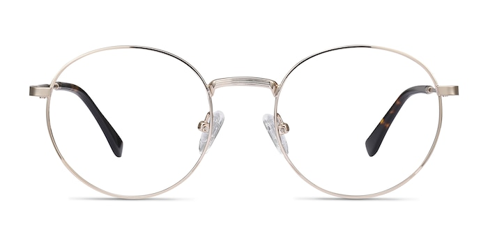 Bistro Golden Metal Eyeglass Frames from EyeBuyDirect