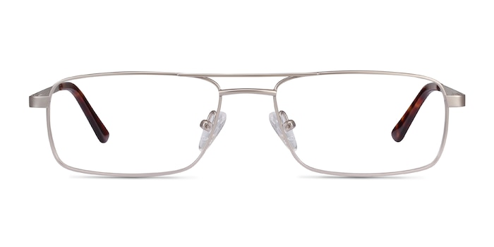 Maverick Silver Metal Eyeglass Frames from EyeBuyDirect