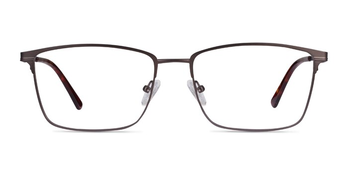 Castle Gunmetal Metal Eyeglass Frames from EyeBuyDirect