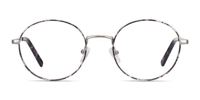 Aero Gray Floral Metal Eyeglass Frames from EyeBuyDirect