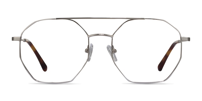 Eight Silver Metal Eyeglass Frames from EyeBuyDirect
