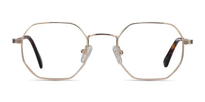 Soar Golden Metal Eyeglass Frames from EyeBuyDirect