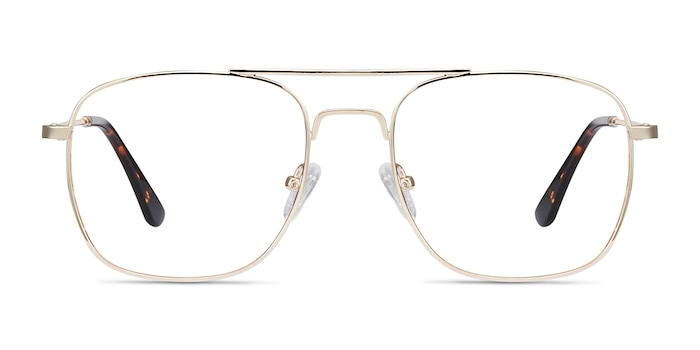 Fame Golden Metal Eyeglass Frames from EyeBuyDirect