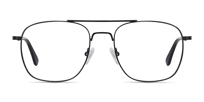 Fame Black Metal Eyeglass Frames from EyeBuyDirect