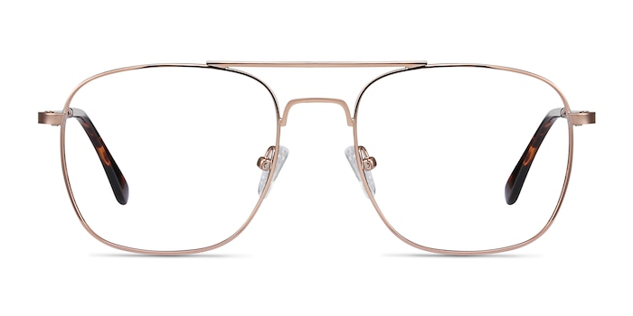 Fame Rose Gold Metal Eyeglass Frames from EyeBuyDirect