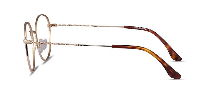 Twirl Golden Metal Eyeglass Frames from EyeBuyDirect