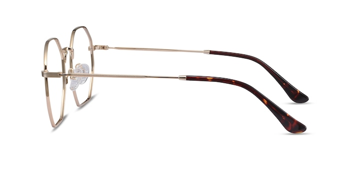 Octave Golden Metal Eyeglass Frames from EyeBuyDirect