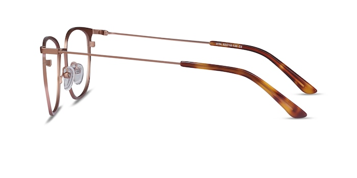 Vita Rose Gold Metal Eyeglass Frames from EyeBuyDirect