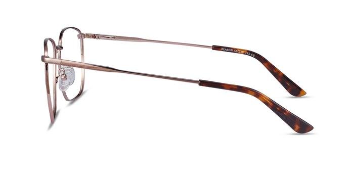 Reason Rose Gold Metal Eyeglass Frames from EyeBuyDirect