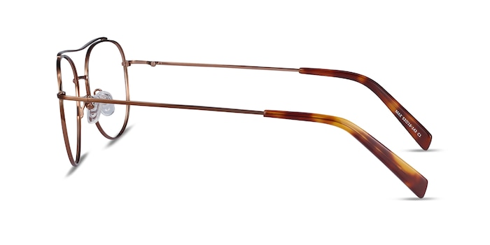 Max Brown Metal Eyeglass Frames from EyeBuyDirect