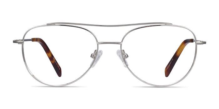 Max Silver Metal Eyeglass Frames from EyeBuyDirect