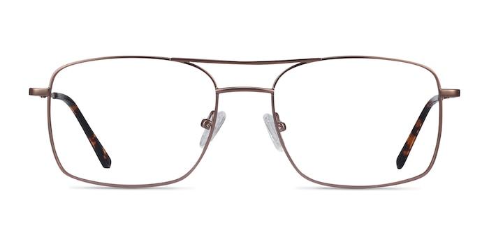 Daymo Marron Métal Montures de Lunette de vue d'EyeBuyDirect