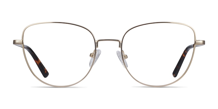 Clotilde Gold Metal Eyeglass Frames from EyeBuyDirect