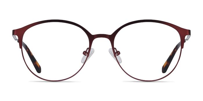 Emma Red Metal Eyeglass Frames from EyeBuyDirect