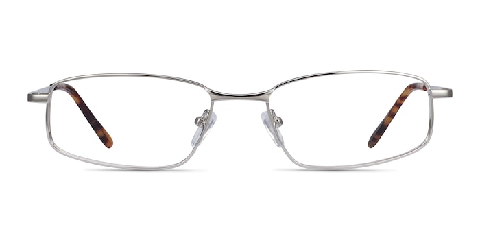 Destined Silver Metal Eyeglass Frames from EyeBuyDirect