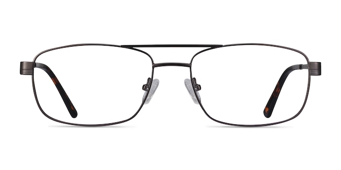 Stan Gunmetal Metal Eyeglass Frames from EyeBuyDirect