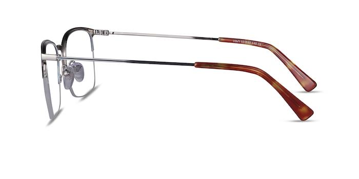 Vimy Blue Metal Eyeglass Frames from EyeBuyDirect