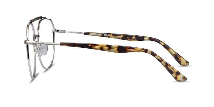 Coxon Silver Tortoise Metal Eyeglass Frames from EyeBuyDirect