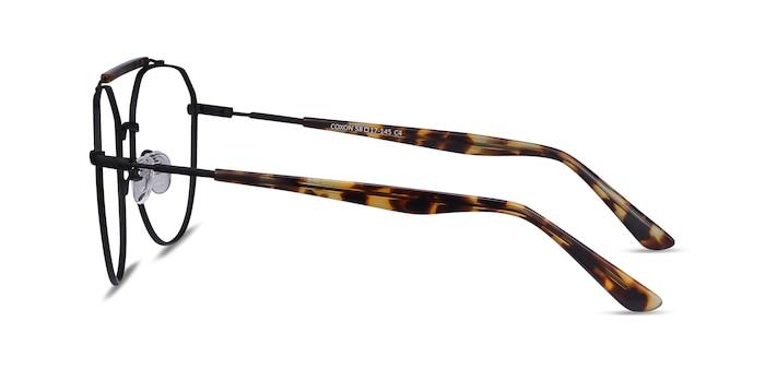 Coxon Black Tortoise Métal Montures de Lunette de vue d'EyeBuyDirect