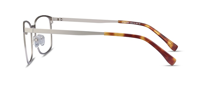 Strategy Silver Metal Eyeglass Frames from EyeBuyDirect
