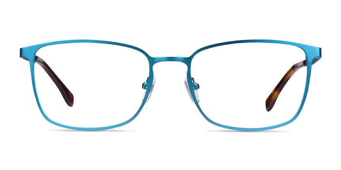 Strategy Blue Metal Eyeglass Frames from EyeBuyDirect