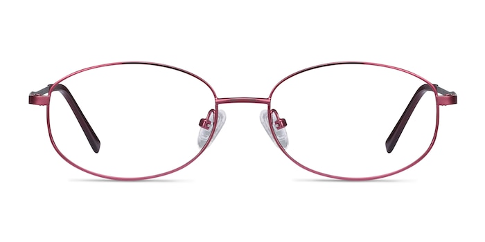 Embrace Burgundy Metal Eyeglass Frames from EyeBuyDirect