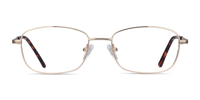 Path Golden Metal Eyeglass Frames from EyeBuyDirect