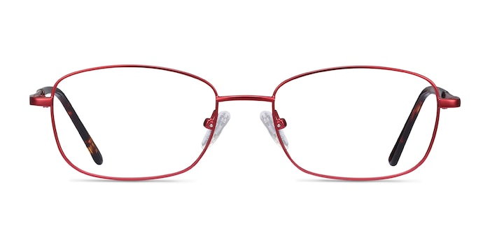 Path Burgundy Metal Eyeglass Frames from EyeBuyDirect
