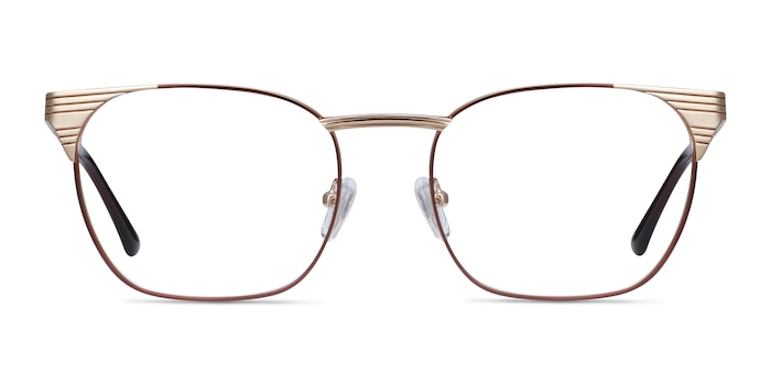 Soulist Brown Golden Metal Eyeglass Frames from EyeBuyDirect