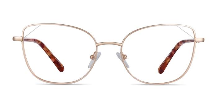 Moment Gold Metal Eyeglass Frames from EyeBuyDirect