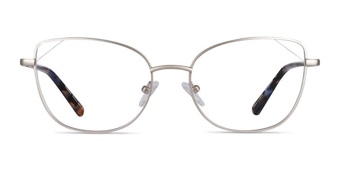 Moment Silver Metal Eyeglass Frames from EyeBuyDirect
