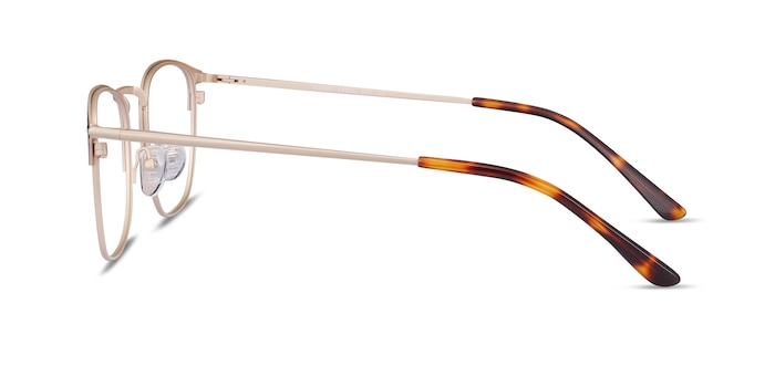 Poppy Black Gold Metal Eyeglass Frames from EyeBuyDirect