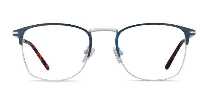 Poppy Navy Metal Eyeglass Frames from EyeBuyDirect
