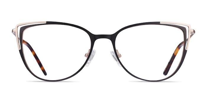 Garance Black Gold Metal Eyeglass Frames from EyeBuyDirect