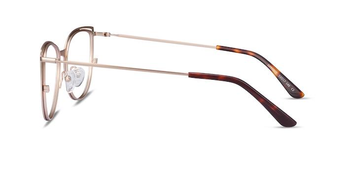 Garance Green & Gold Metal Eyeglass Frames from EyeBuyDirect